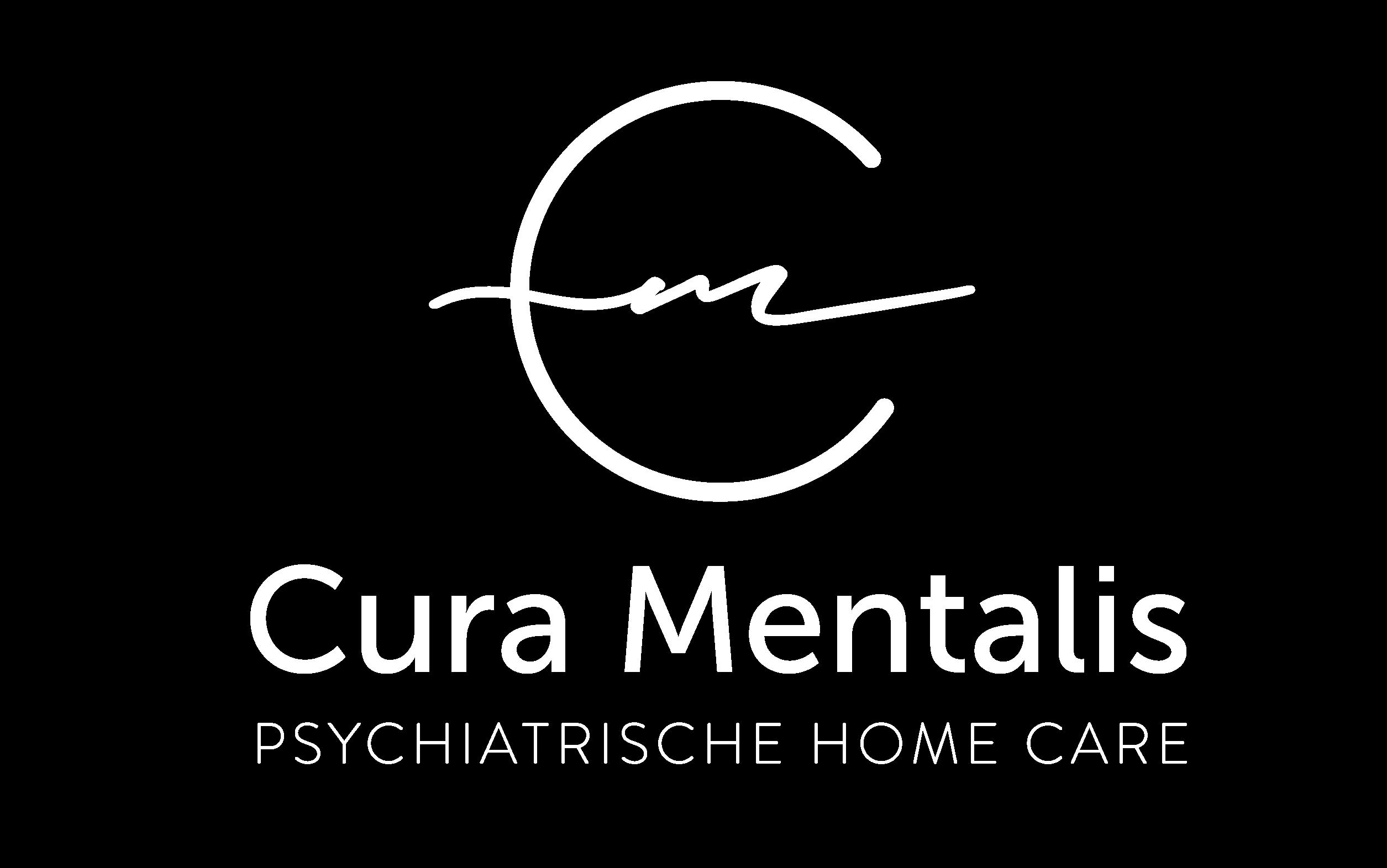 Logo Cura Mentalis weiss